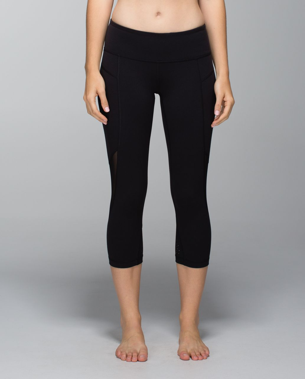 Lululemon Wunder Under Crop II *Laser-Cut - Black