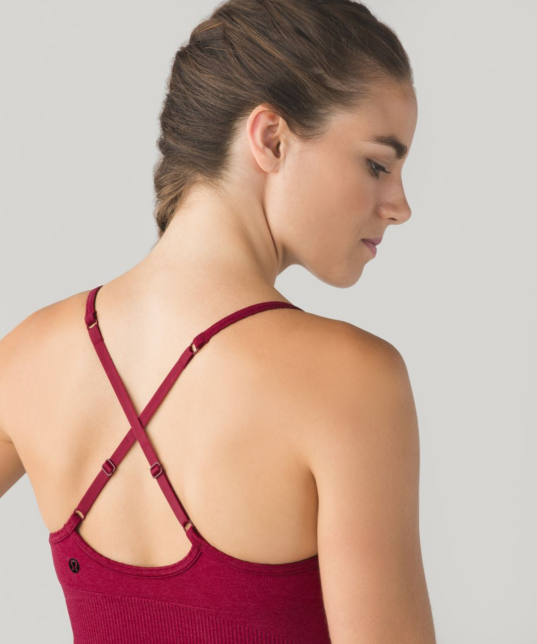 Lululemon Ebb To Street Bra - Heathered Bumble Berry