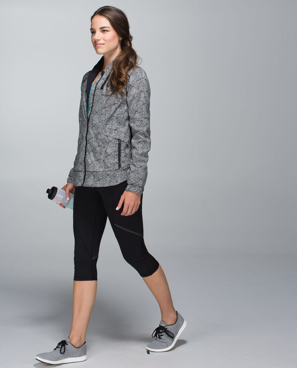 Lululemon Spring Forward Jacket - Plush Petal Black Ghost / Black