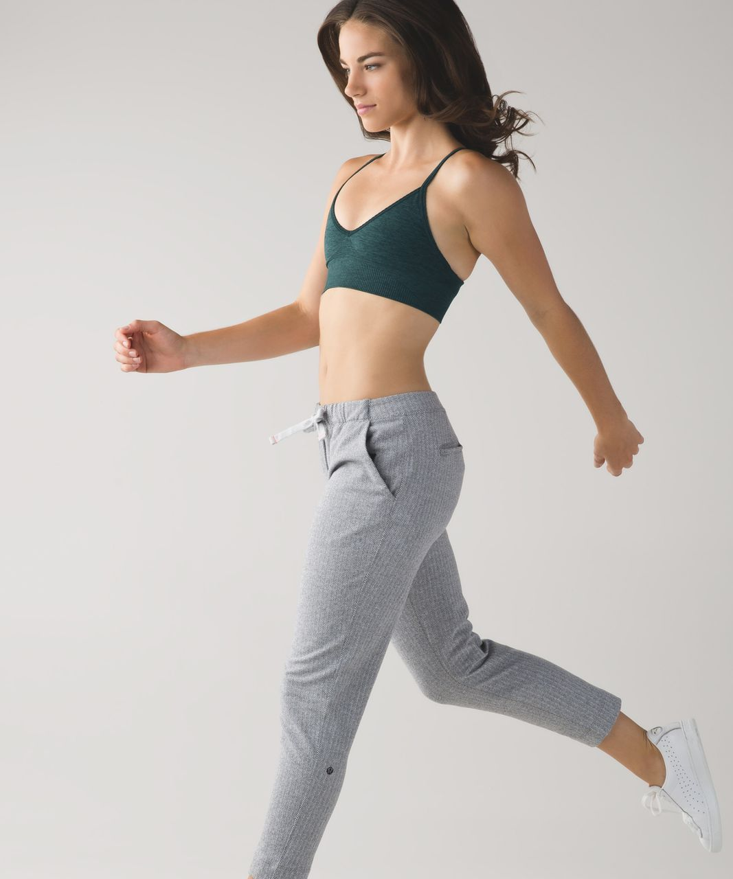 Lululemon Ebb To Street Bra - Heathered Fuel Green
