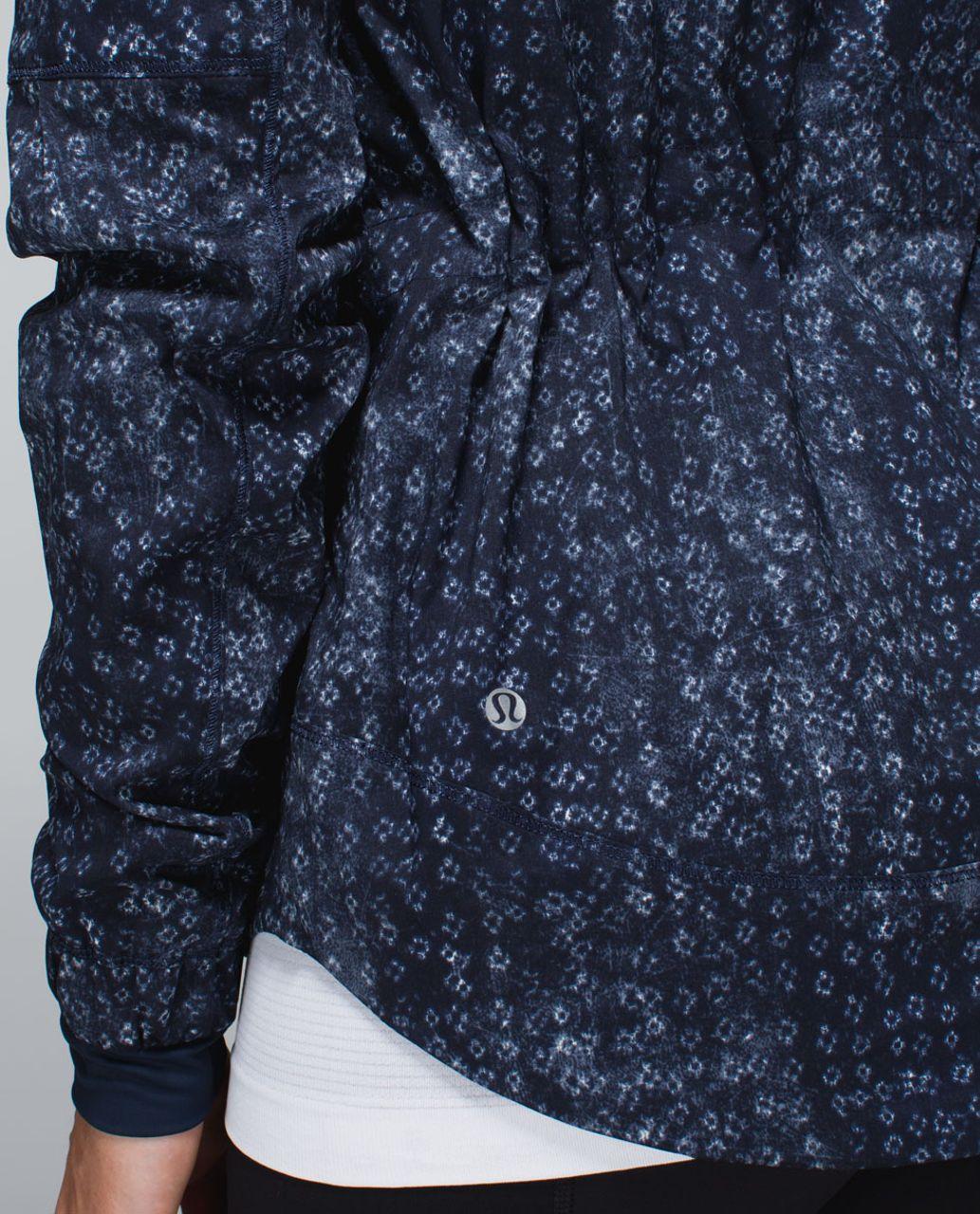 Lululemon Spring Forward Jacket - Kanoko Twist Inkwell Ghost / Inkwell