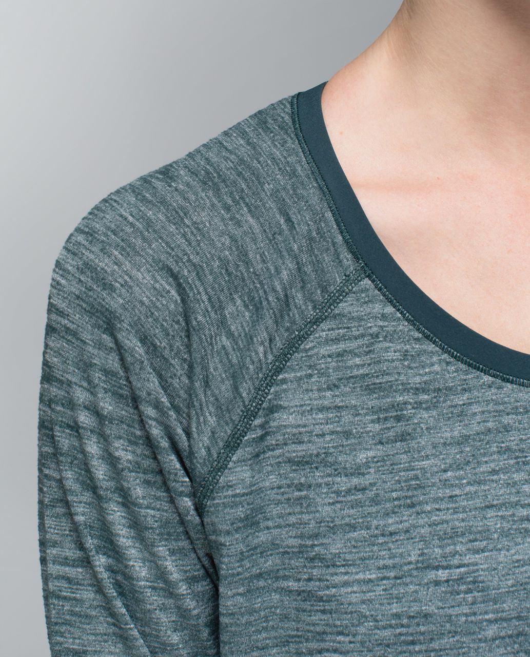 Lululemon Layered Long Sleeve Tee - Heathered Fuel Green / Fuel Green