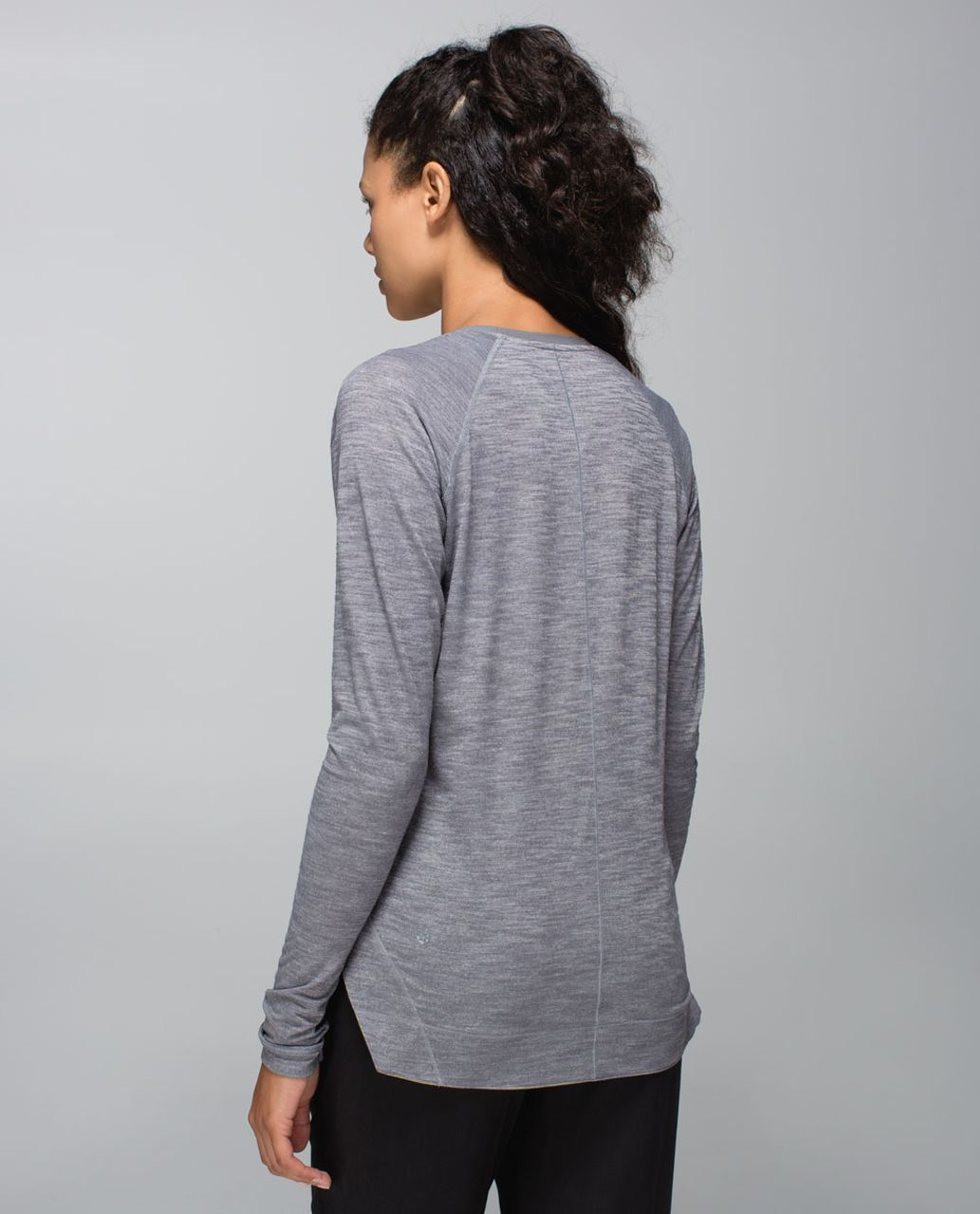Lululemon Layered Long Sleeve Tee - Heathered Slate / Slate / Almost Pear