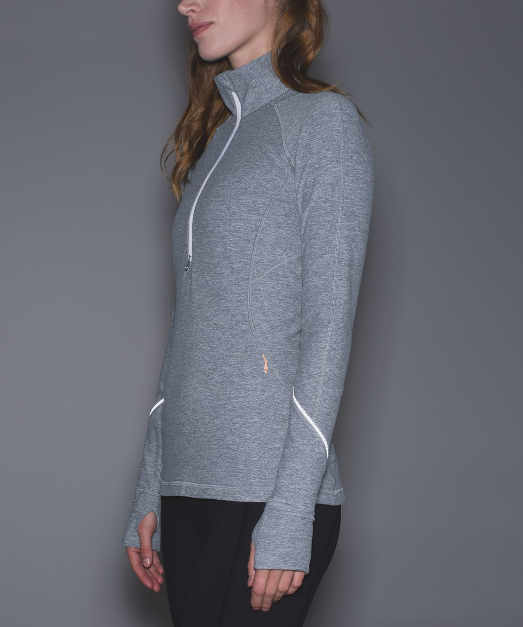 Lululemon Race Your Pace 1/2 Zip - Heathered Slate