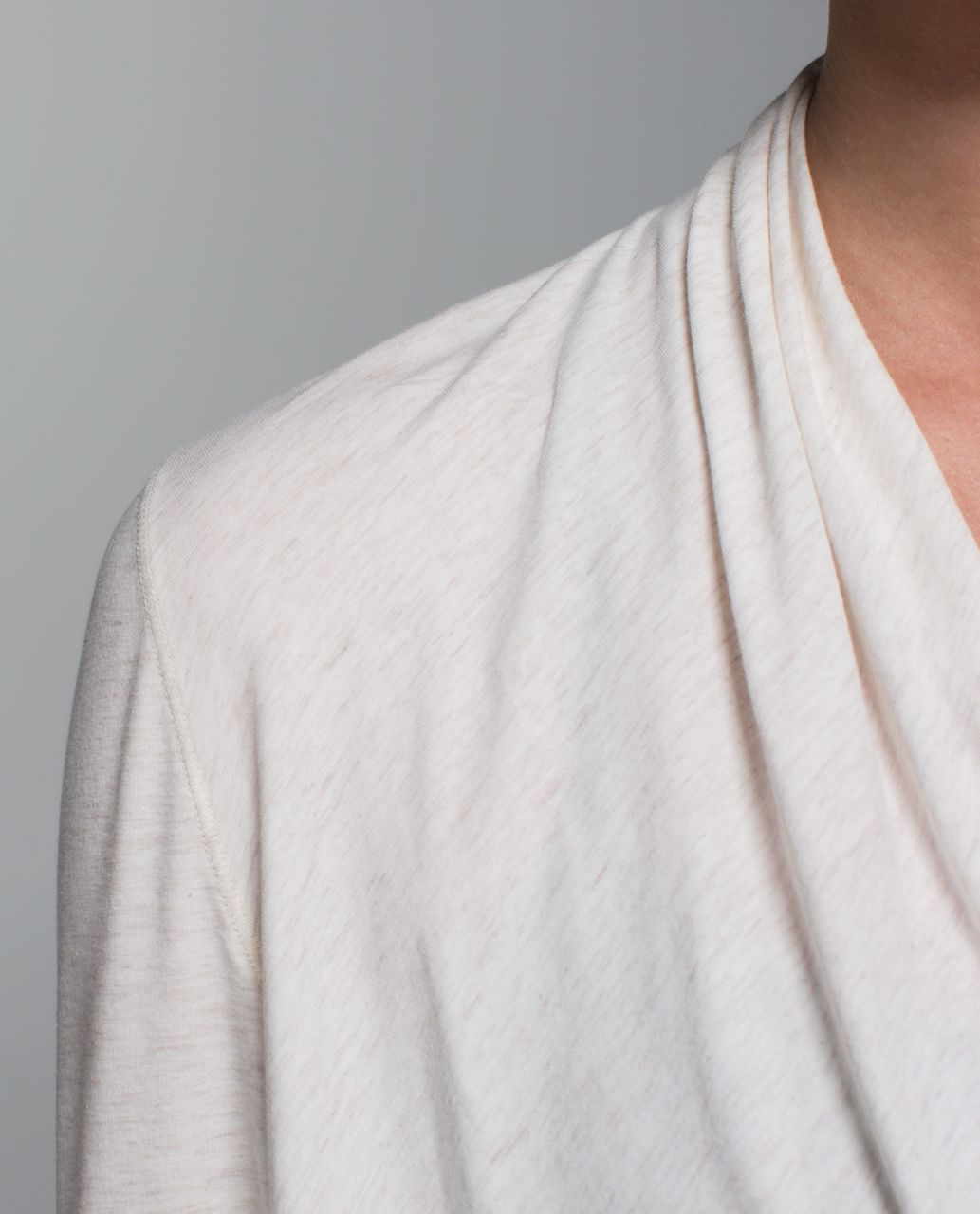 Lululemon Radiant Long Sleeve - Heathered Angel White