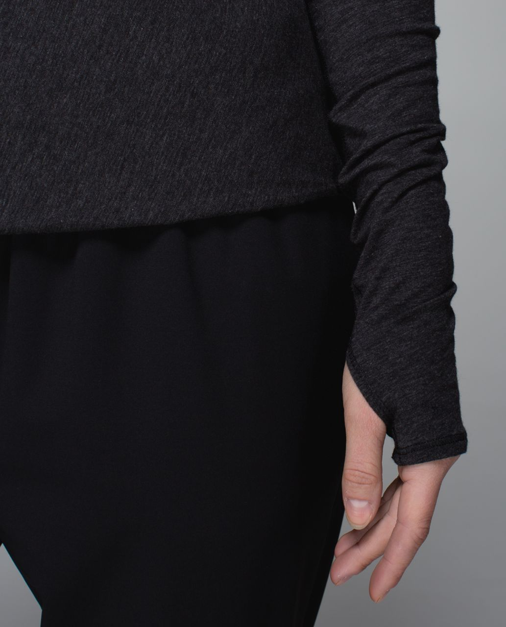 Lululemon Radiant Long Sleeve - Heathered Black (First Release)
