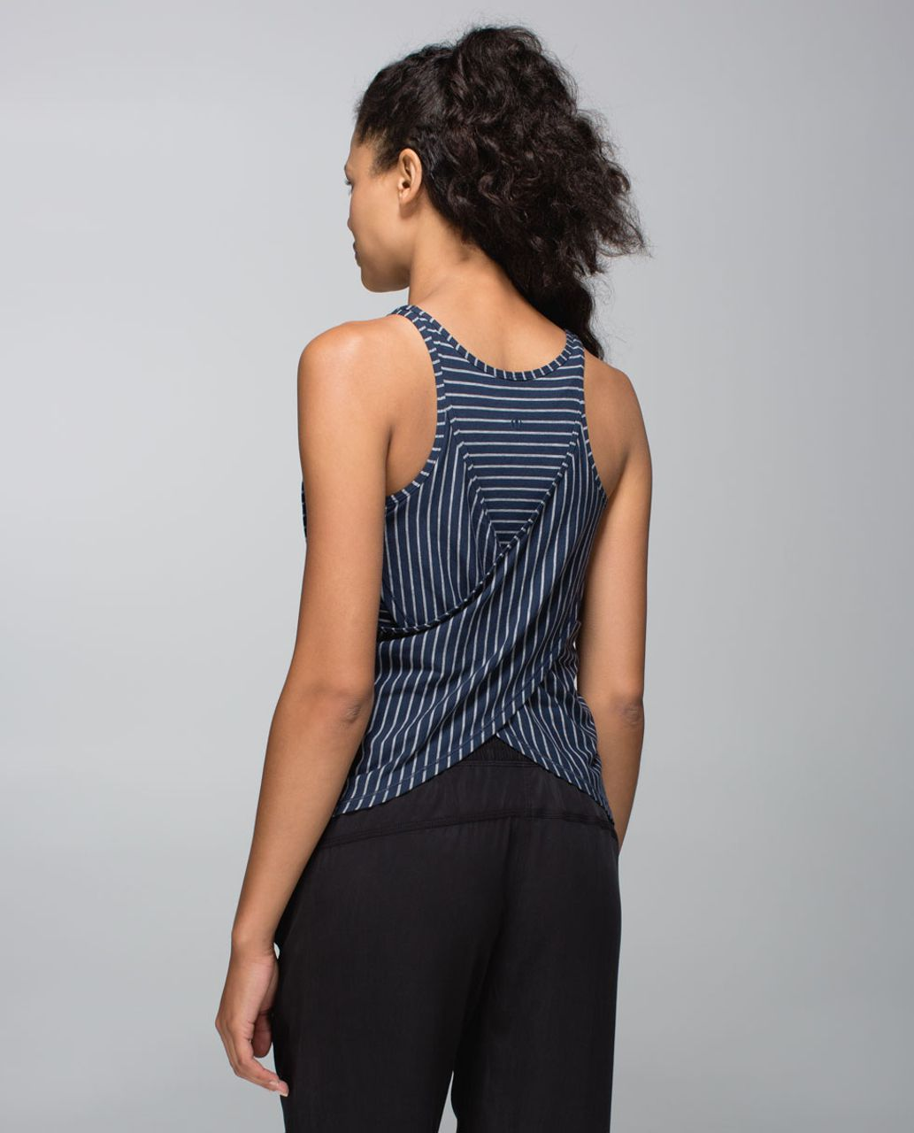 Lululemon Vita Racer Tank - West2east Stripe Inkwell Heathered Medium Grey