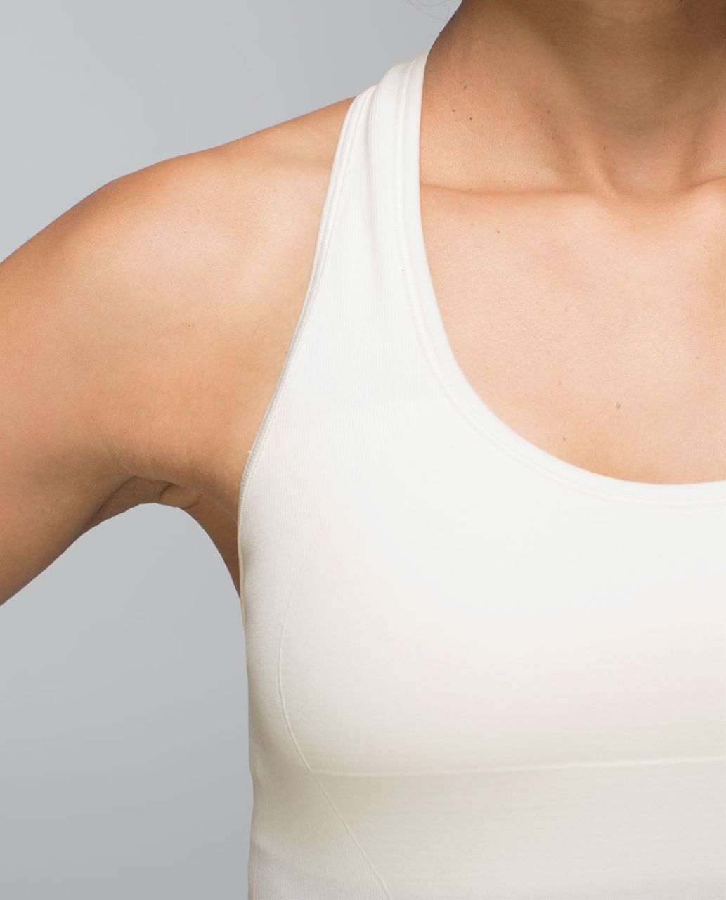 Lululemon Ebb & Flow Racerback Tank - Heathered Ghost