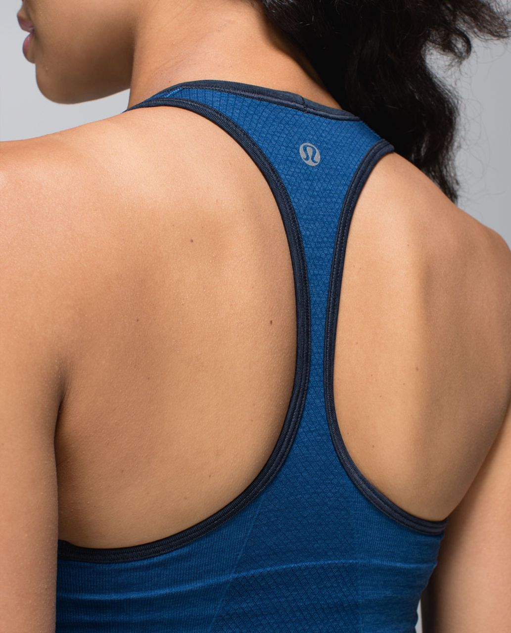 Lululemon Ebb & Flow Racerback Tank - Heathered Rugged Blue / Heathered Inkwell