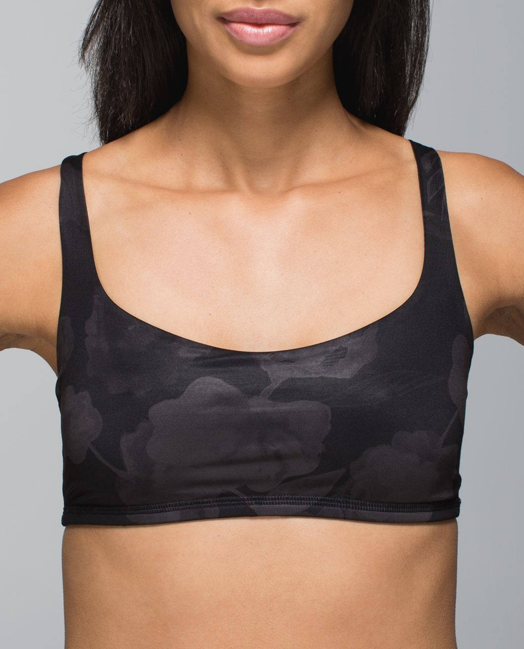 Lululemon Free To Be Bra - Inky Floral Soot Black / Black