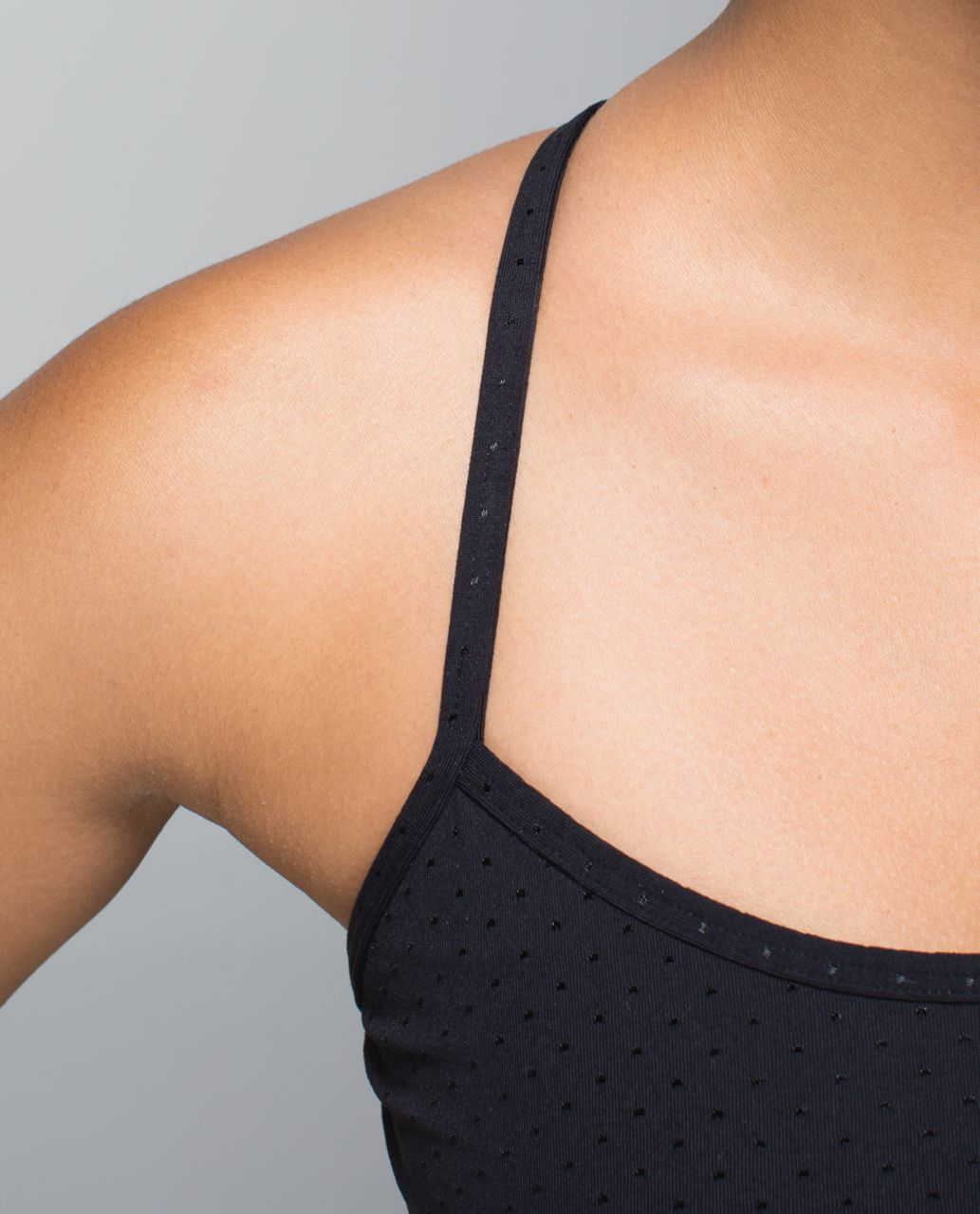 Lululemon Power Y Tank *Luon - Shine Dot Black