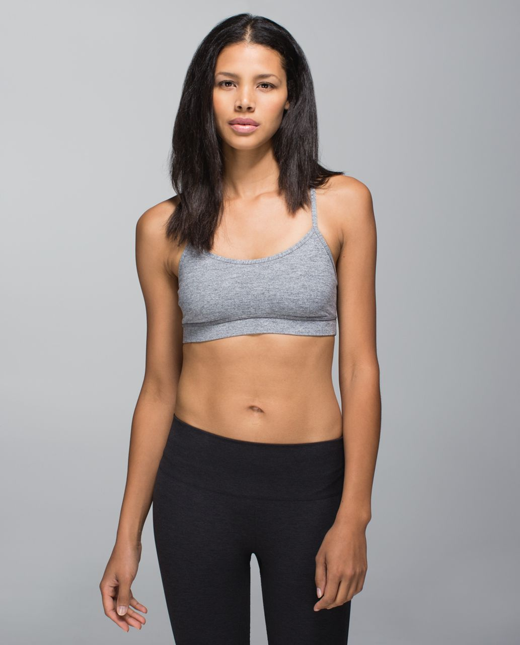 Lululemon Flow Y Bra IV - Heathered Slate