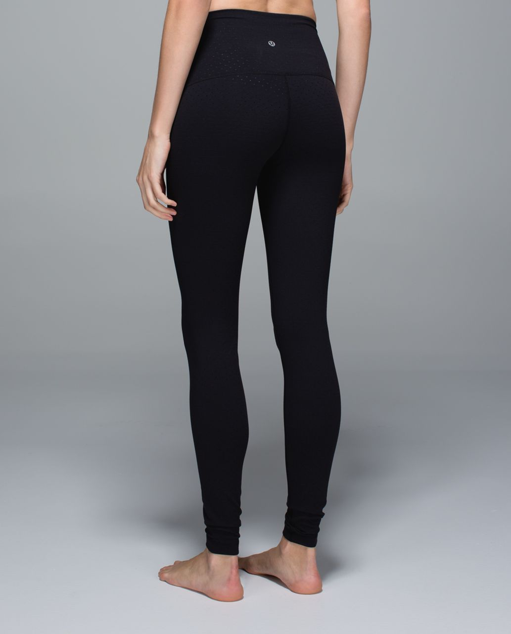 Lululemon Wunder Under Pant *Full-On Luon (Roll Down) - Shine Dot Black