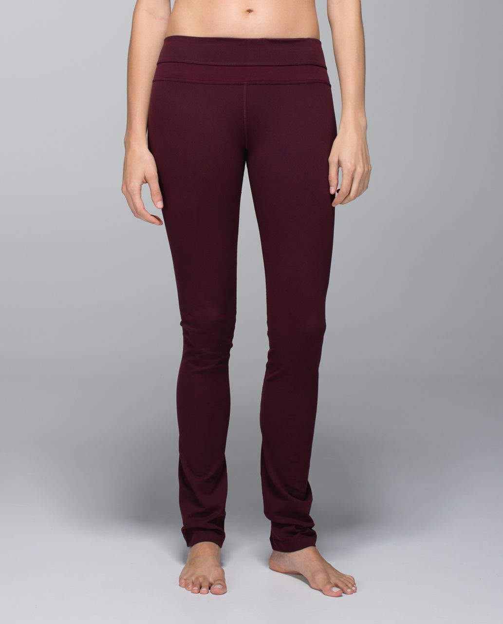 Lululemon Skinny Groove Pant - Diamond Dot Bordeaux Drama Black / Bordeaux Drama