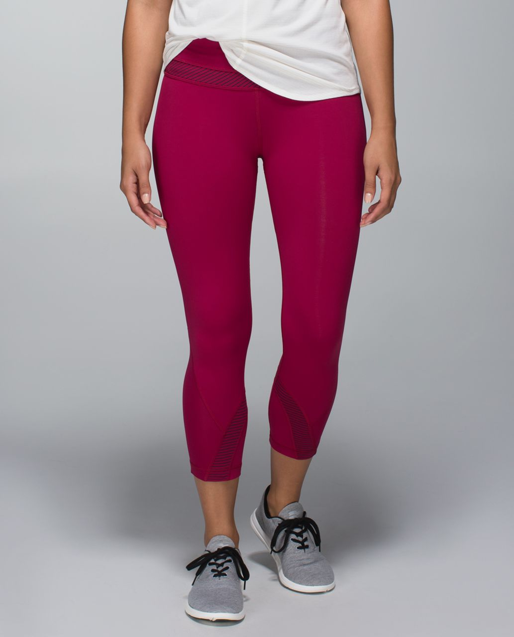 Lululemon Run:  Inspire Crop II - Bumble Berry / Hyper Stripe Bordeaux Drama Bumble Berry