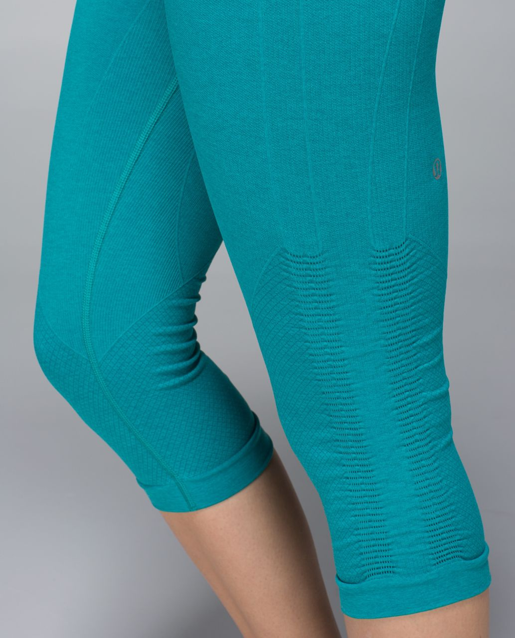 Lululemon In The Flow Crop II - Heathered Real Teal