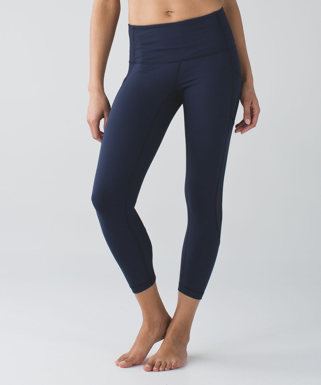 95acfd895e94b Lululemon Seek The Heat Crop - Inkwell - lulu fanatics