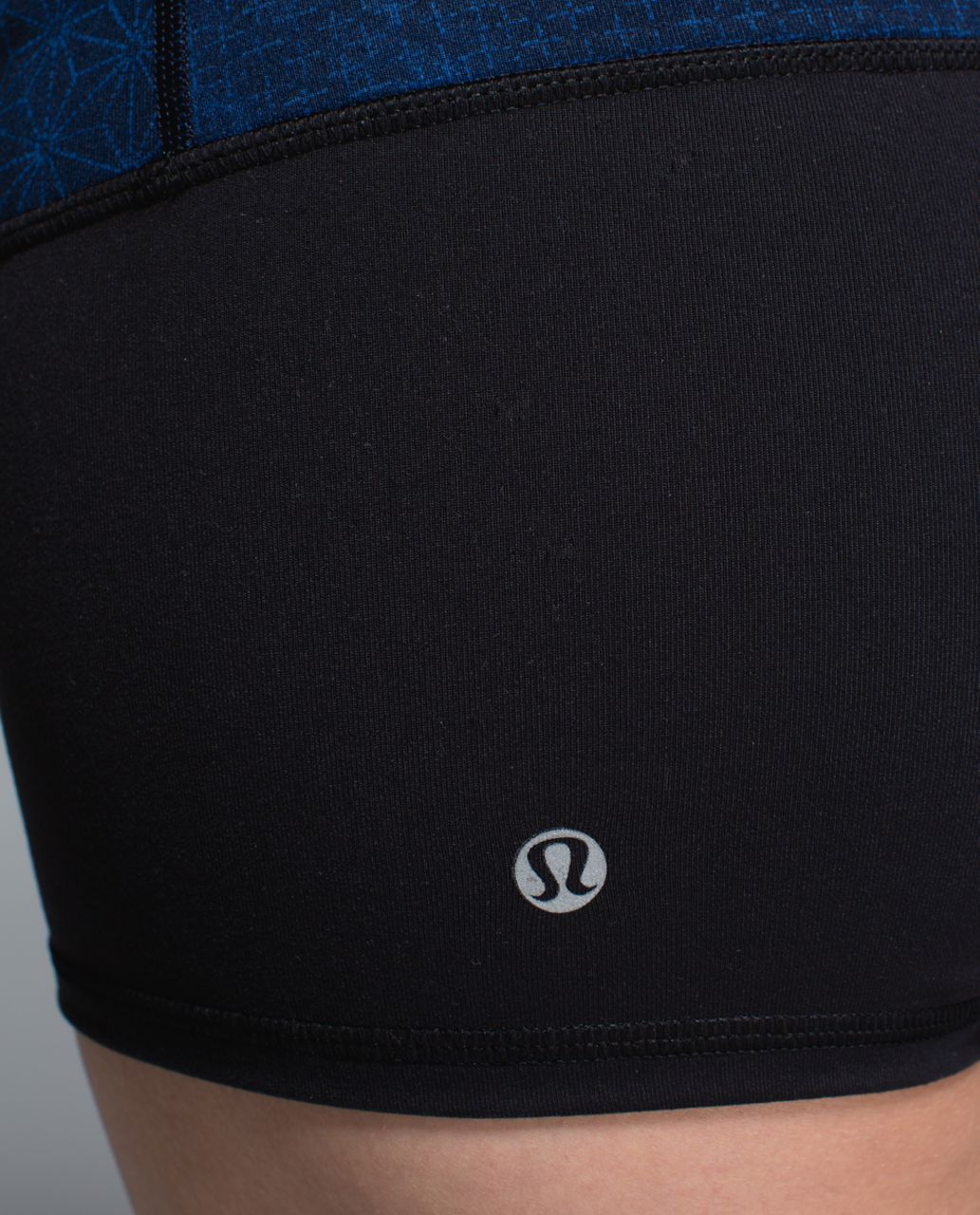 Lululemon Boogie Short *Full-On Luon - Black / Fa14 Quilt 1 / Sashico Star Inkwell Rugged Blue