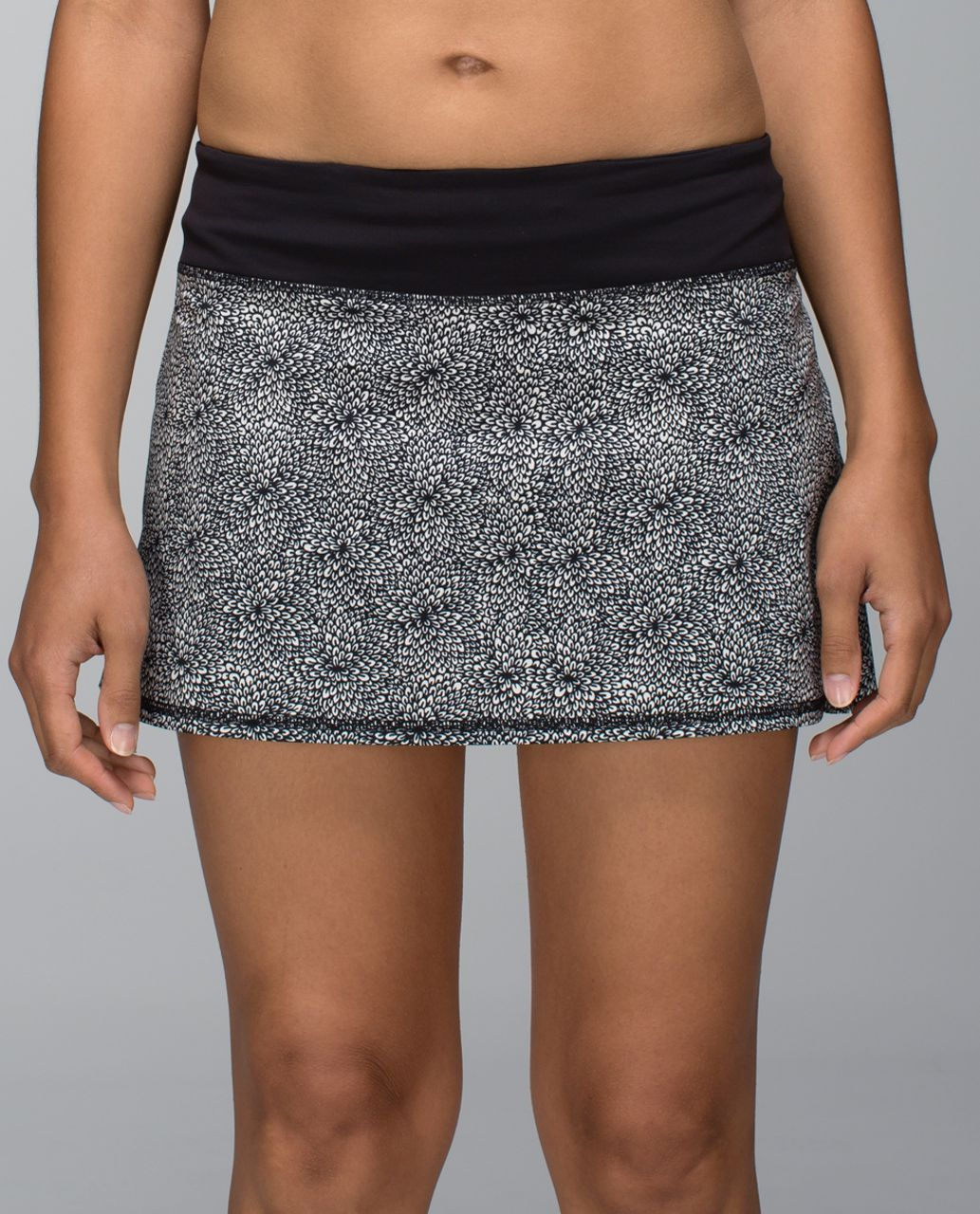 Lululemon Run:  Pace Setter Skirt *4-way Stretch (Regular) - Plush Petal Black Ghost / Black
