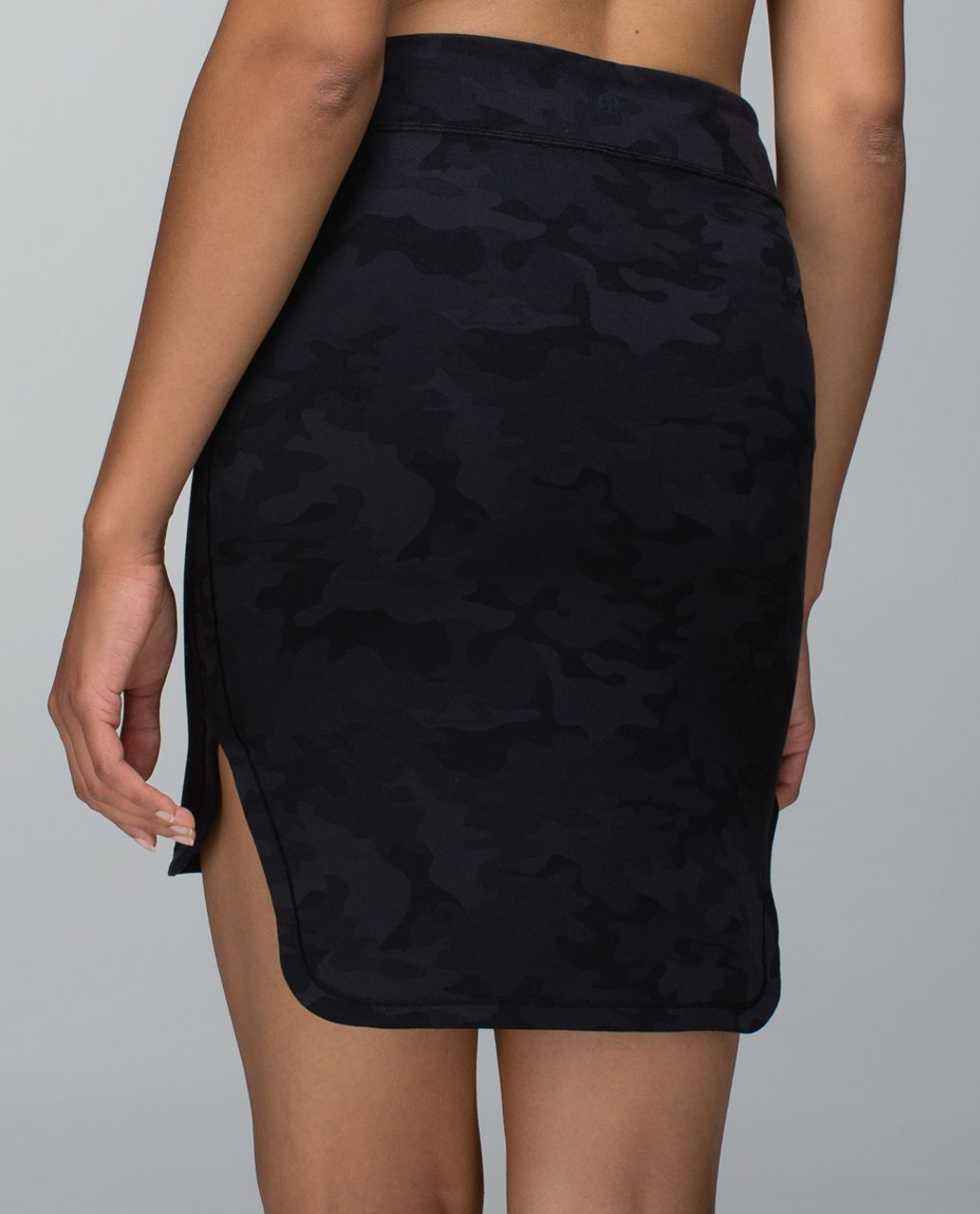 Lululemon City Skirt - Savasana Camo 20cm New Black / Soot