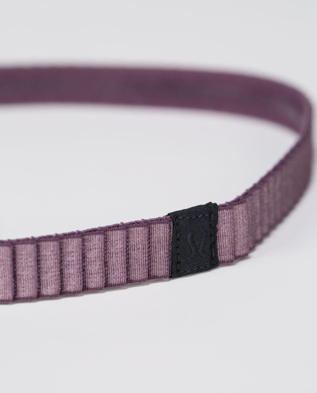 Lululemon Flow Into Crow Headband - Purple Fog