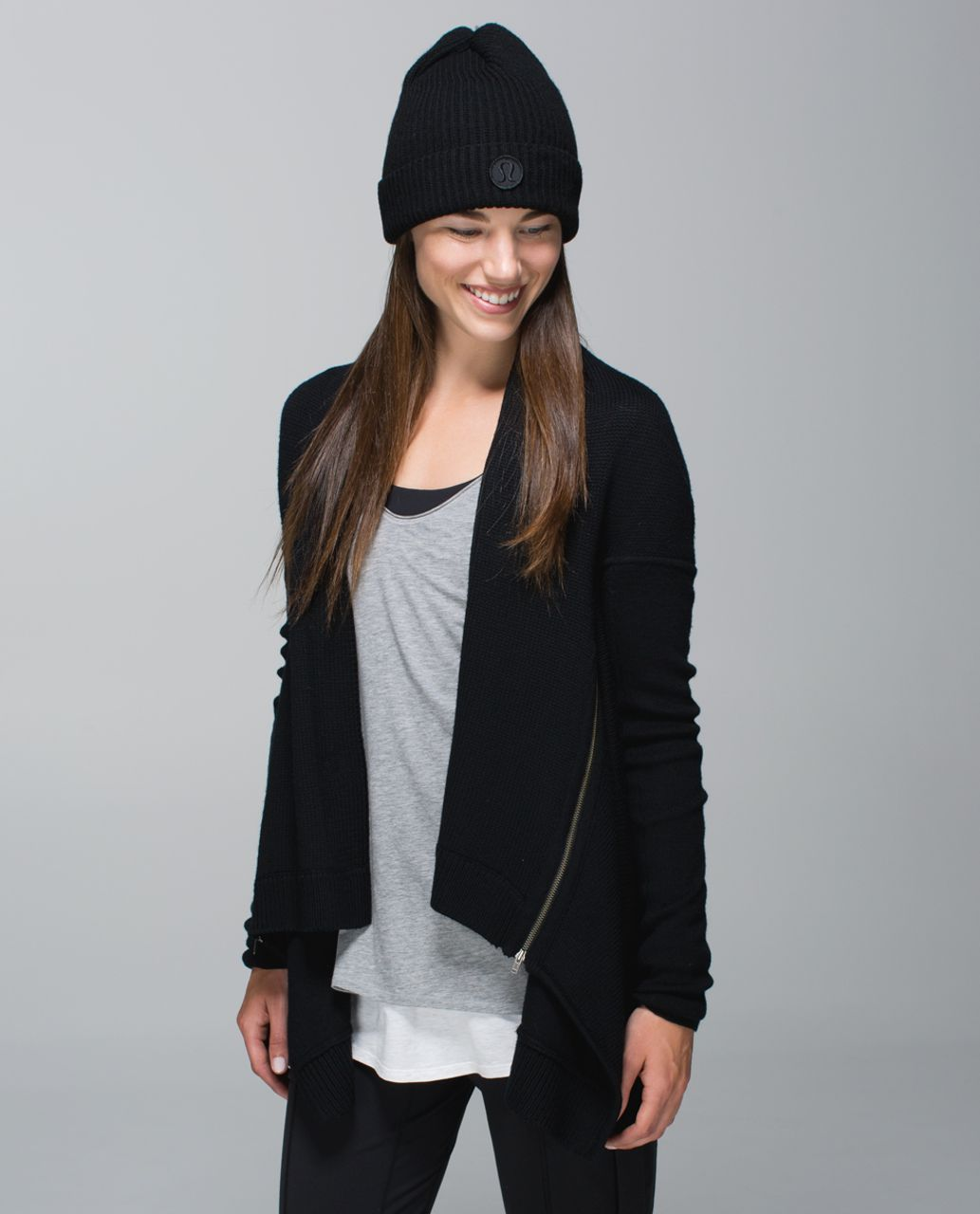 b21e3388 Lululemon Twisted Bliss Toque - Heathered Black / Black - lulu fanatics