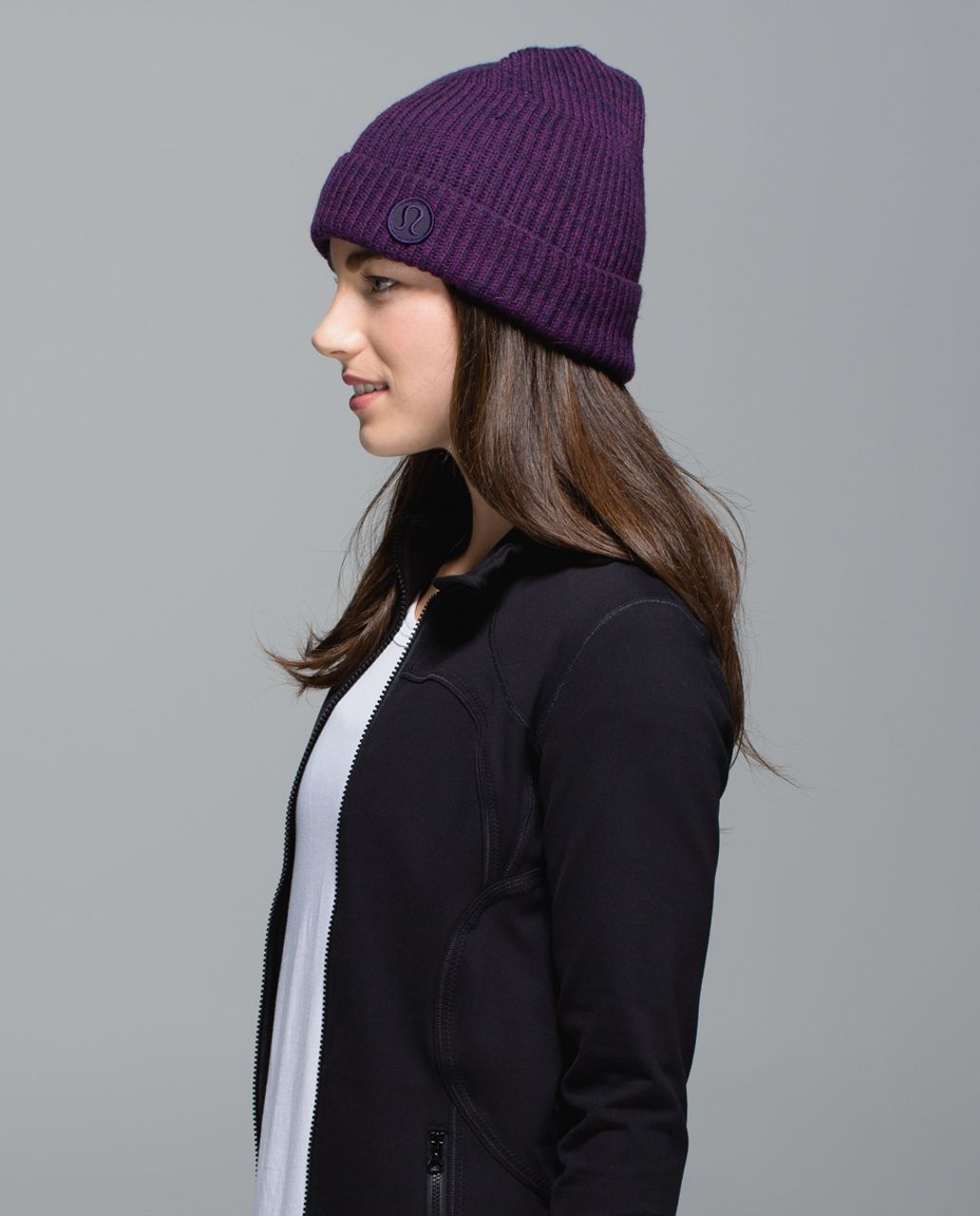 d2c4b2c8 Lululemon Twisted Bliss Toque - Berry Yum Yum / Black Grape - lulu fanatics