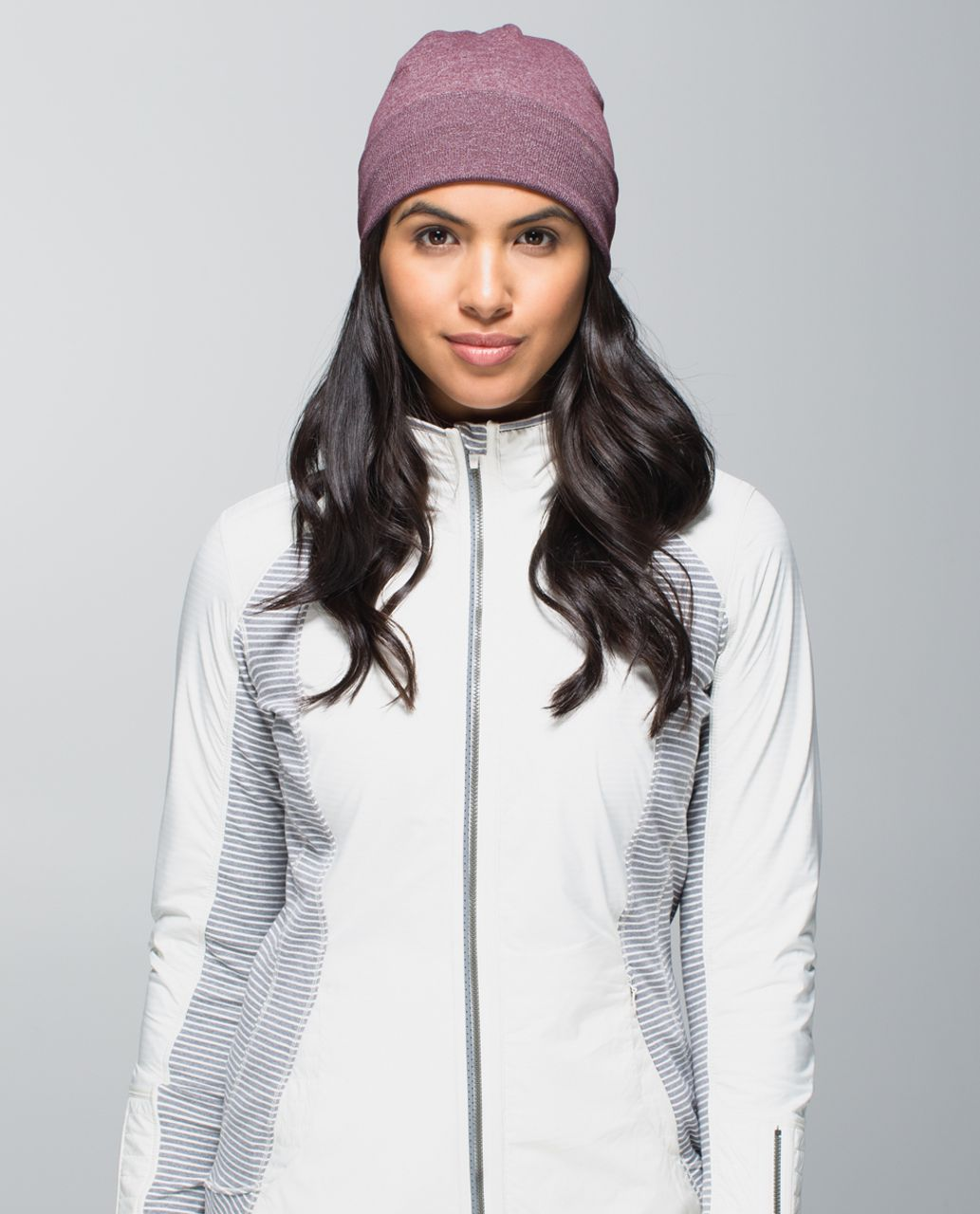 Lululemon Run With Me Toque - Hyper Stripe Heathered Bordeaux Drama Bumble Berry / Heathered Bordeaux Drama