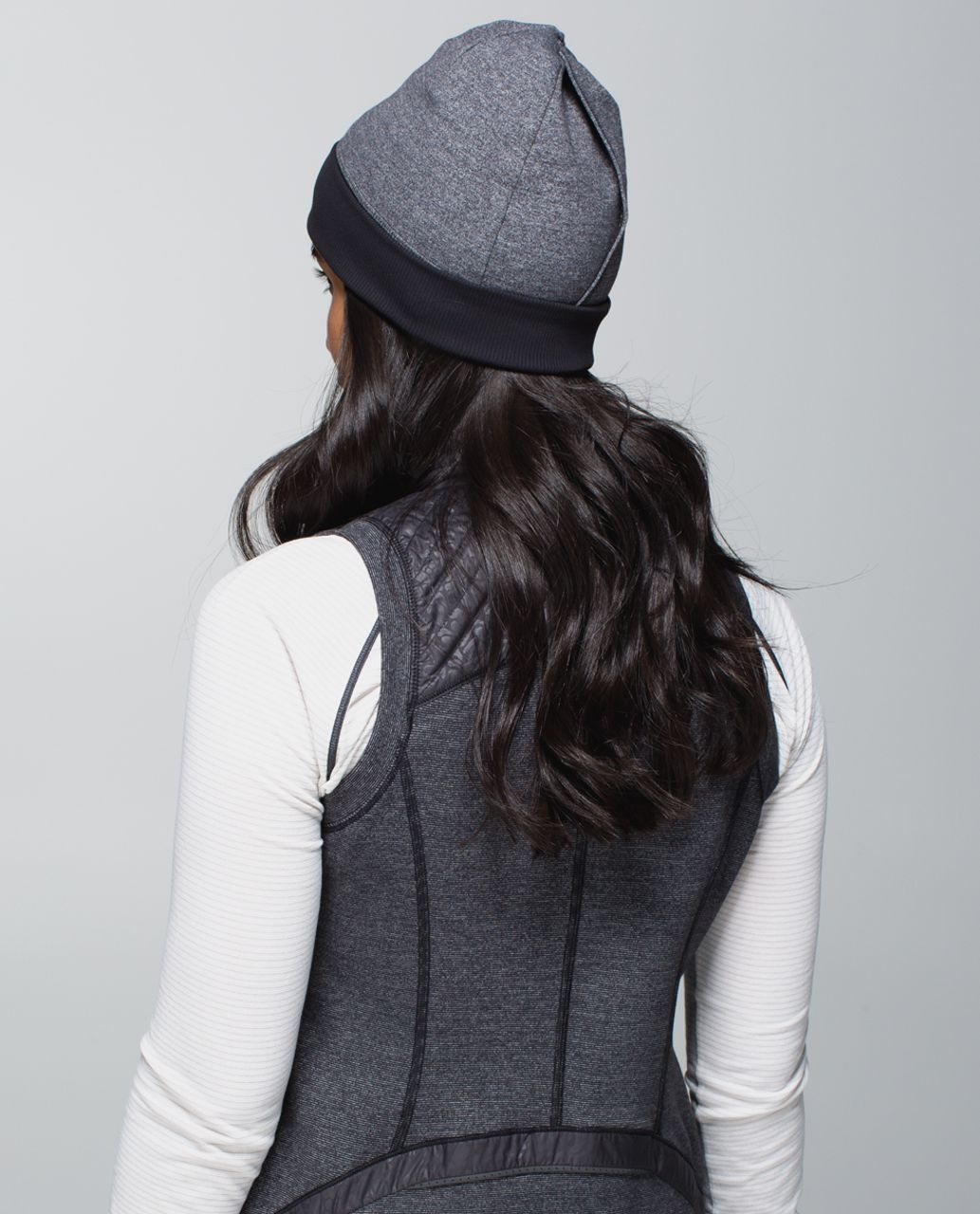 Lululemon Run With Me Toque - Hyper Stripe Heathered Black Almost Pear / Heathered Black / Black