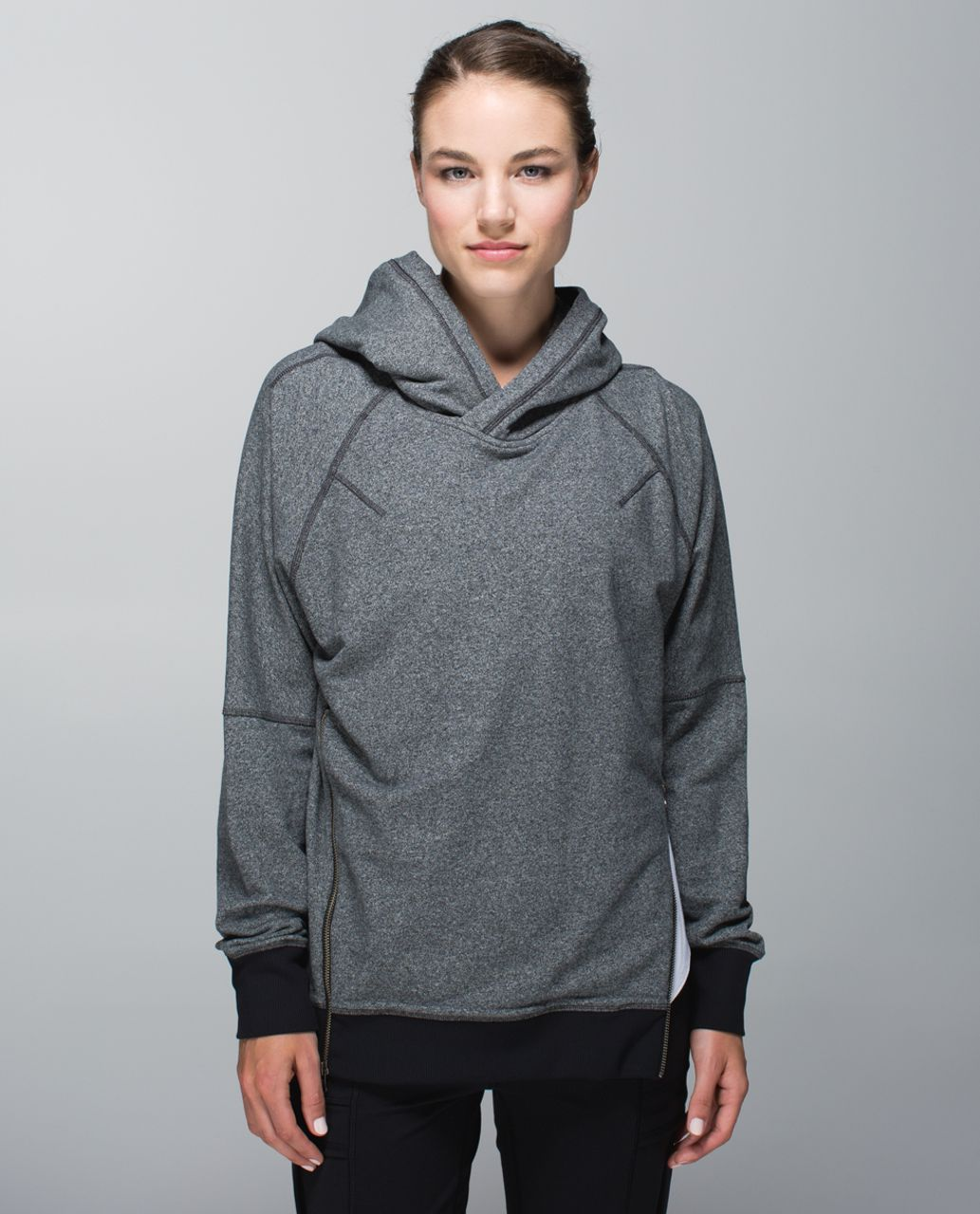 Lululemon Om & Roam Pullover - Heathered Speckled Black / Black