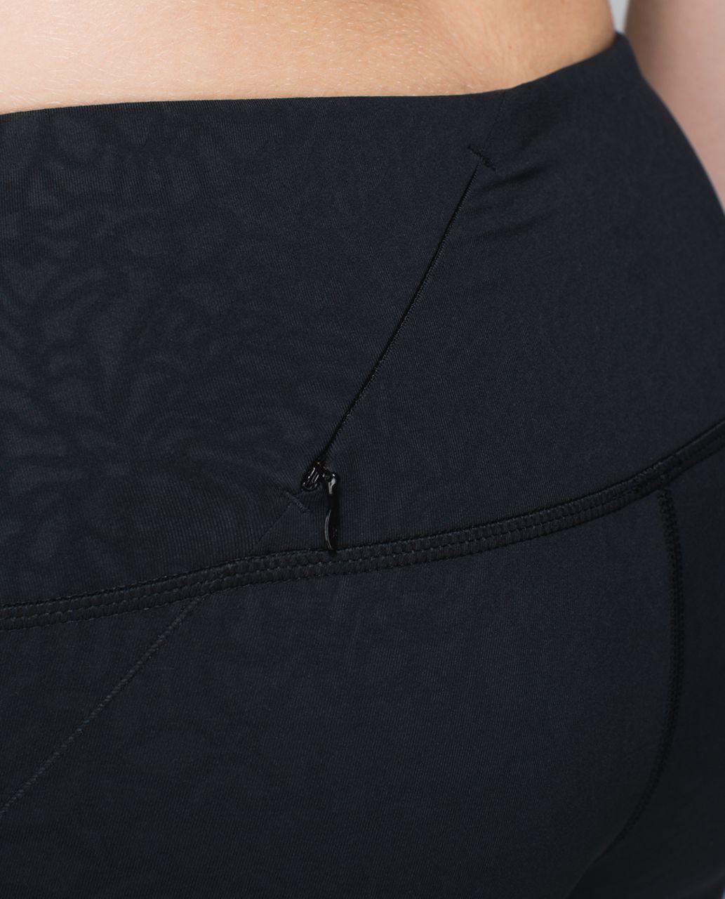 Lululemon Rebel Runner Crop - Petal Camo Embossed Black / Black