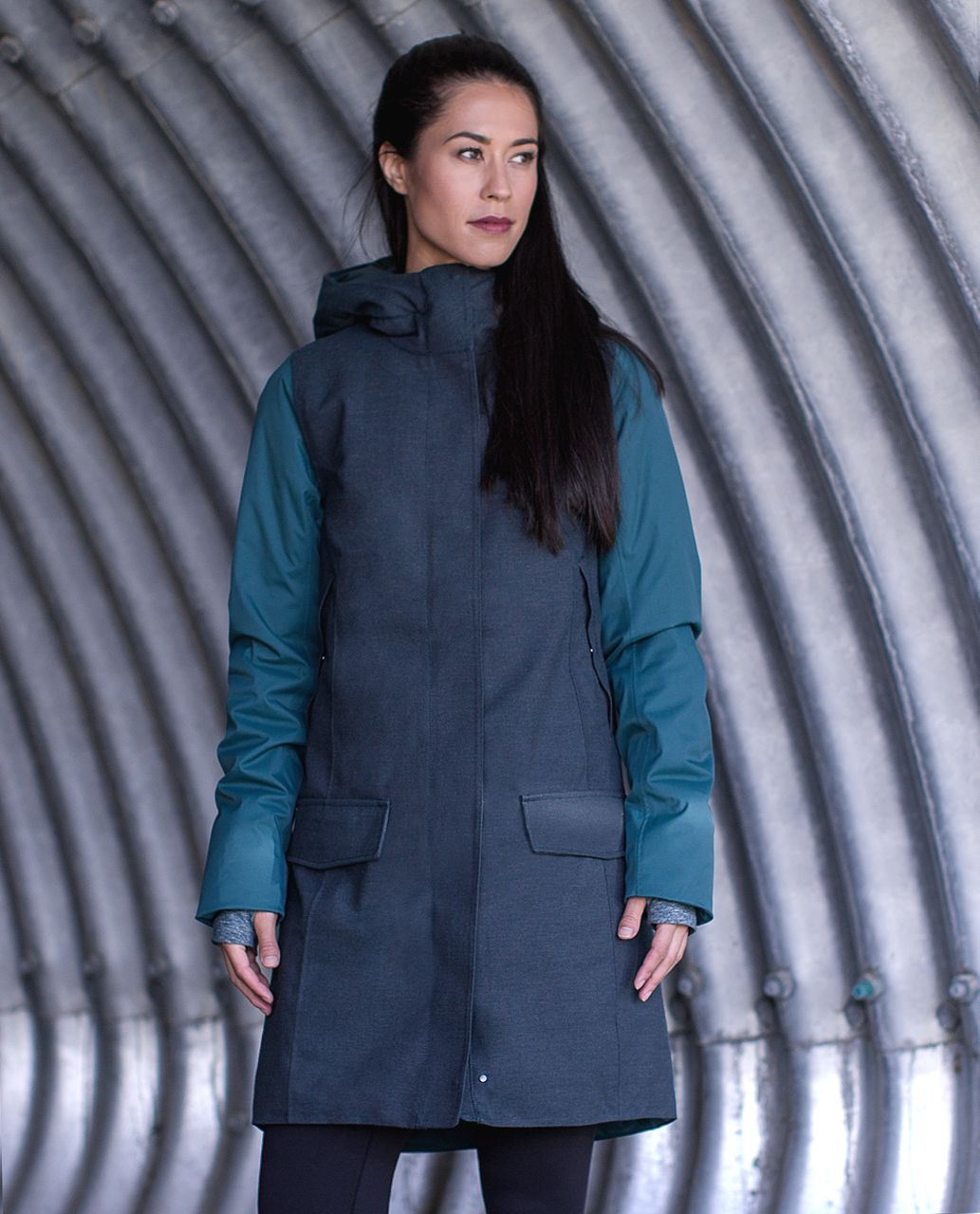 Lululemon Blizzard Parka - Fuel Green / Heathered Black / Fuel Green