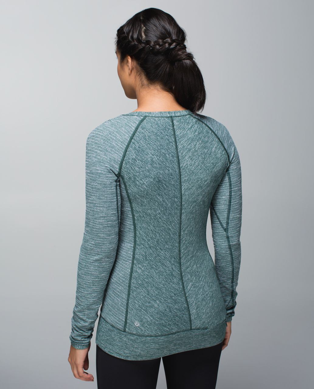Lululemon Race Your Pace Long Sleeve - Heathered Fuel Green / Coco Pique Fuel Green