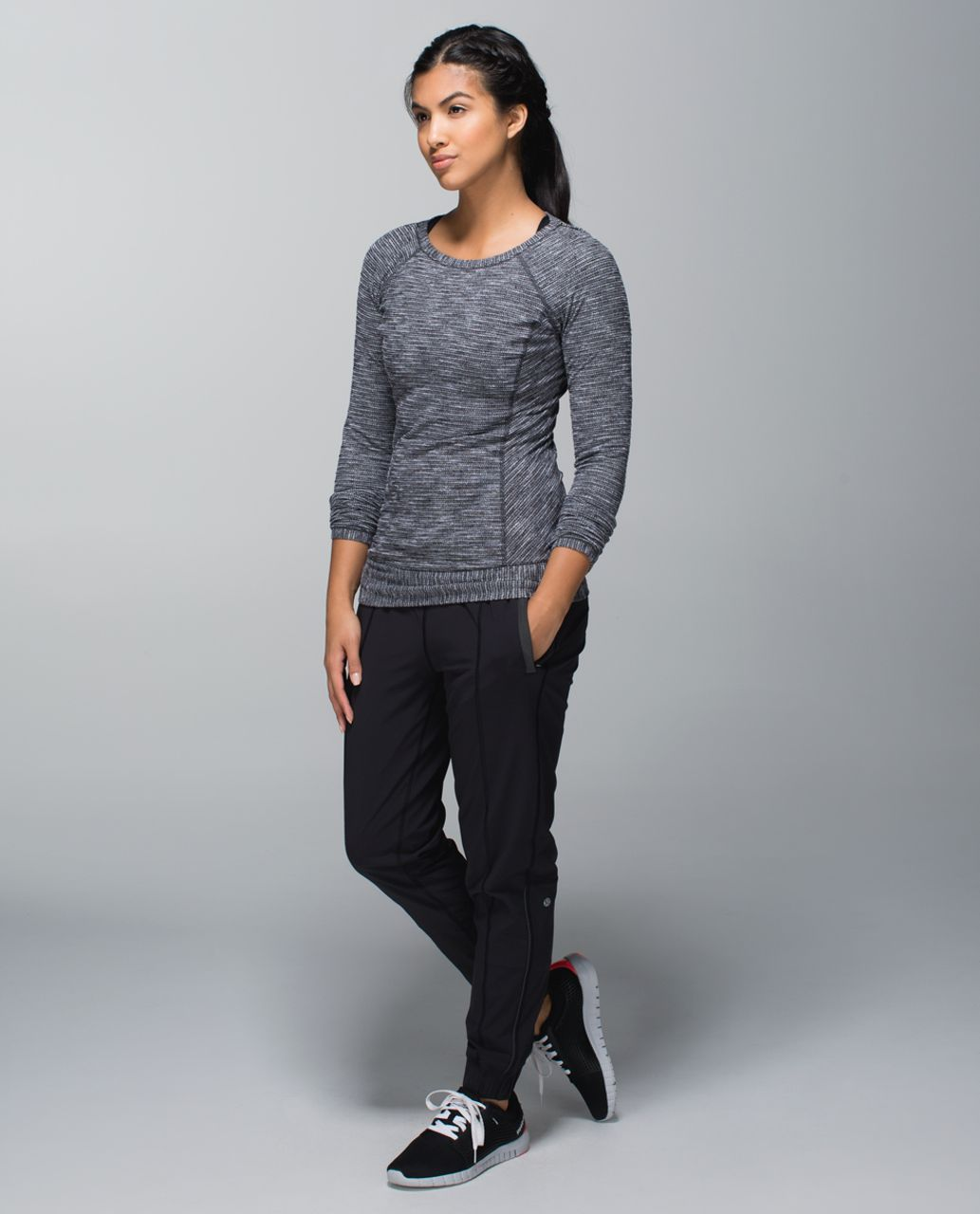 Lululemon Race Your Pace Long Sleeve - Coco Pique Black