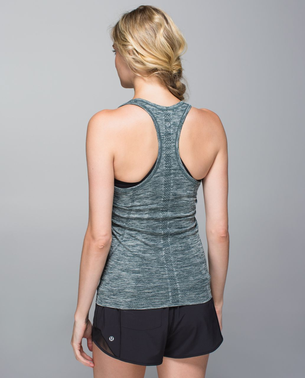Lululemon Run:  Swiftly Tech Racerback - Space Dye Heathered Fuel Green