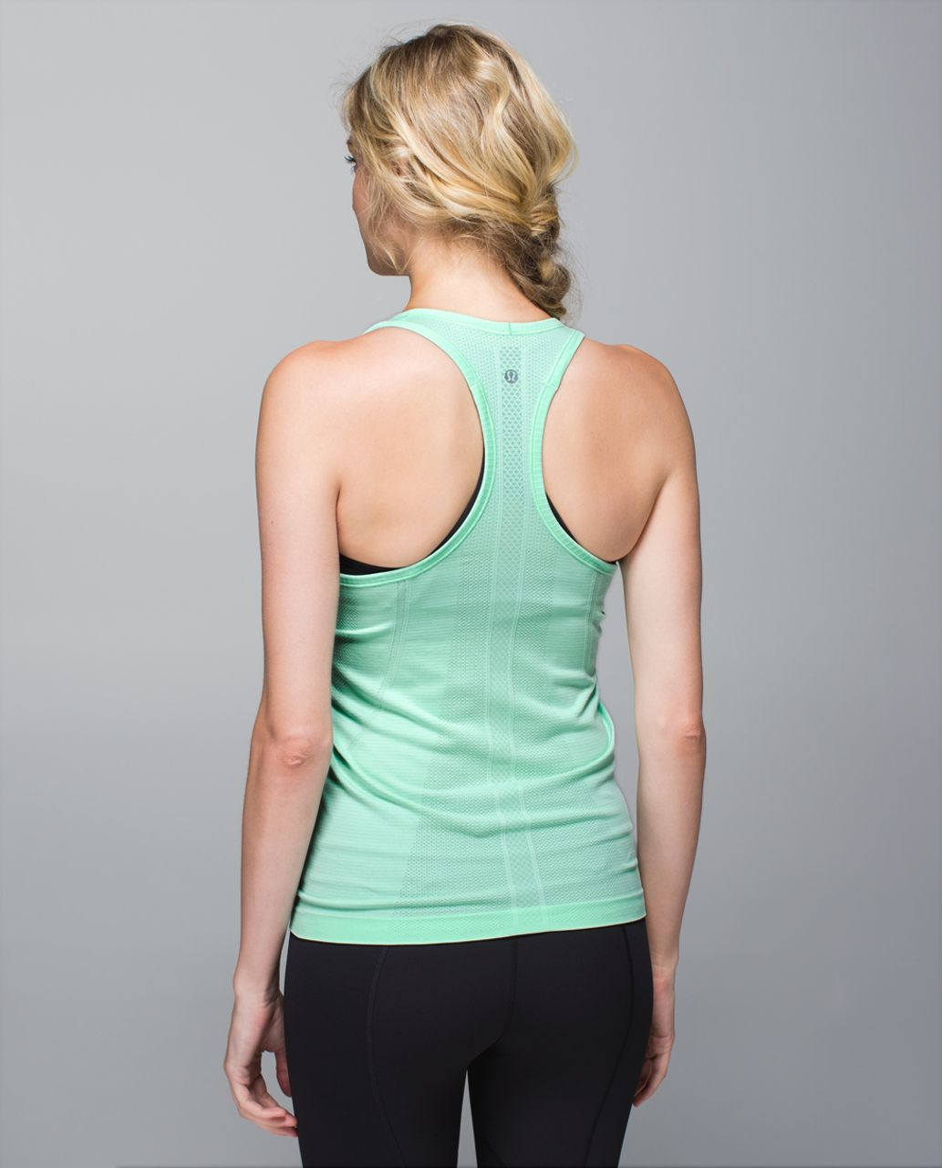 Lululemon Run:  Swiftly Tech Racerback - Heathered Toothpaste