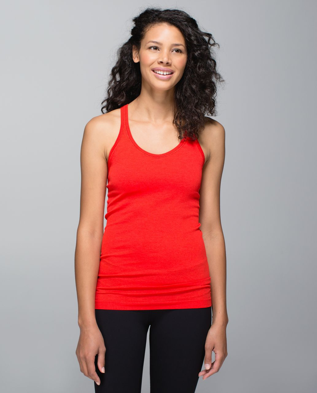 Lululemon Ebb To Street Tank - Heathered Flaming Tomato