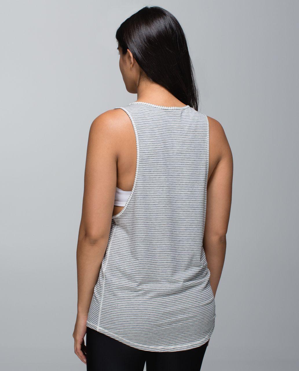 Lululemon Ravi Tank - Hyper Stripe Heathered Medium Grey Ghost