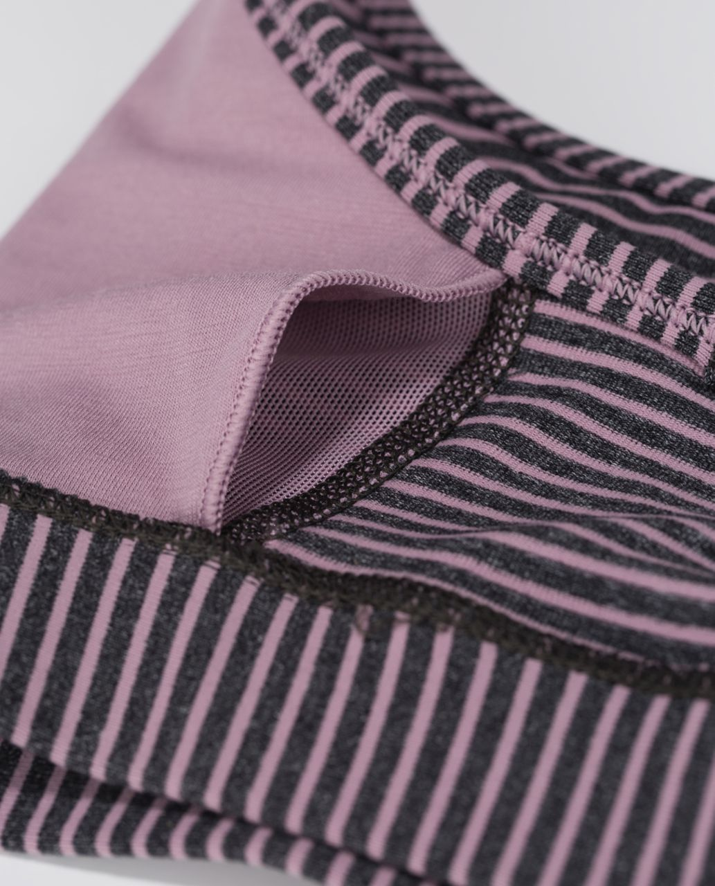 Lululemon Flow Y Bra IV - Hyper Stripe Mauvelous Heathered Black