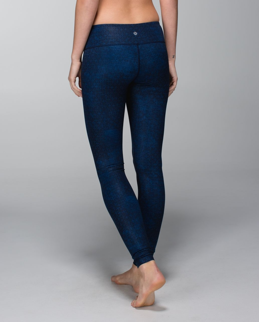 Lululemon Wunder Under Pant *Full-On Luxtreme - Exploded Sashico Cross Inkwell Rugged Blue / Exploded Sashico Star Inkwell Rugged Blue
