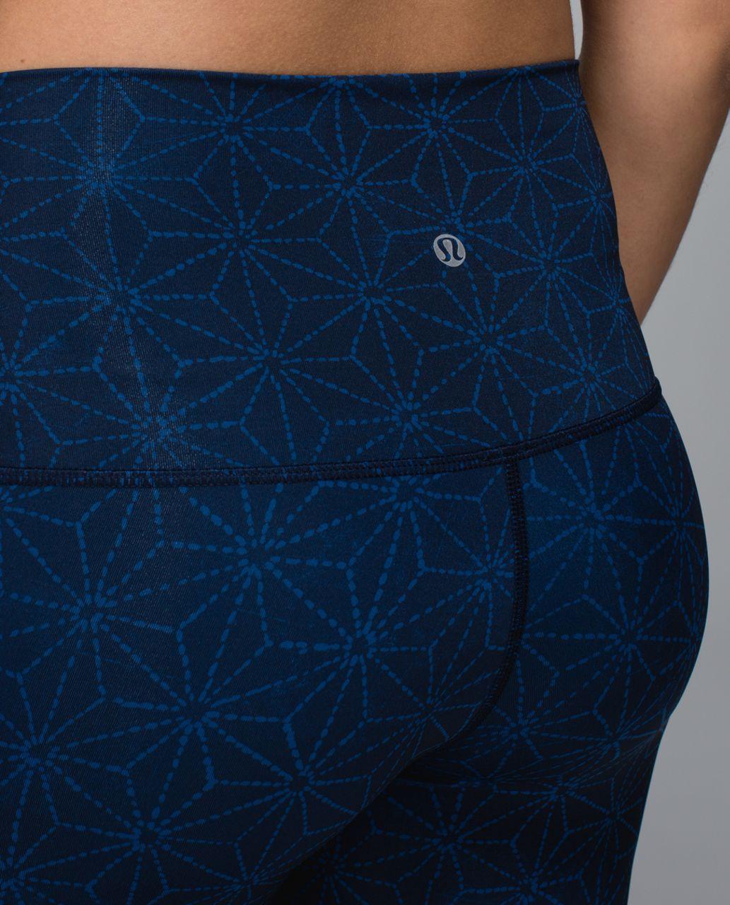 Lululemon Wunder Under Pant *Full-On Luxtreme (Roll Down) - Exploded Sashico Star Inkwell Rugged Blue