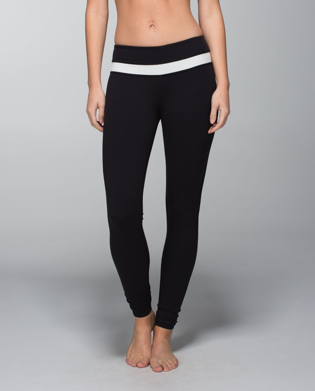 Lululemon Wunder Groove Pant *Full-On Luon - Black / Ghost