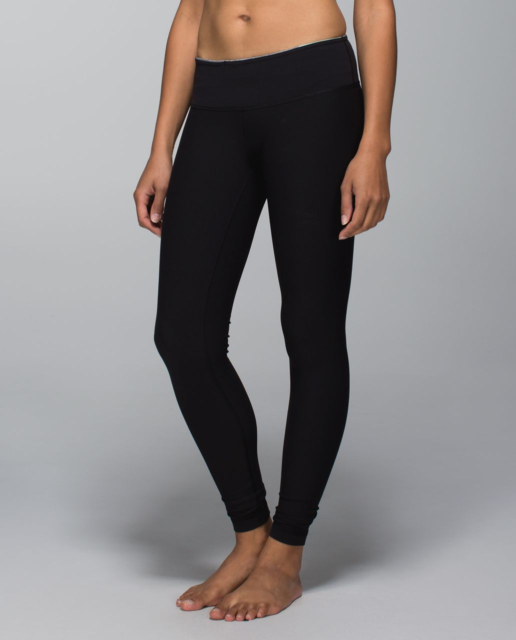 Lululemon Wunder Under Pant *Full-On Luon - Black / Fa14 Quilt 10