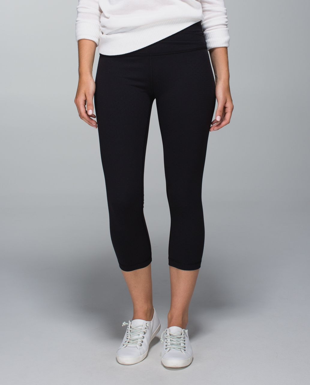 Lululemon Astro Wunder Under Crop II - Shine Dot Black
