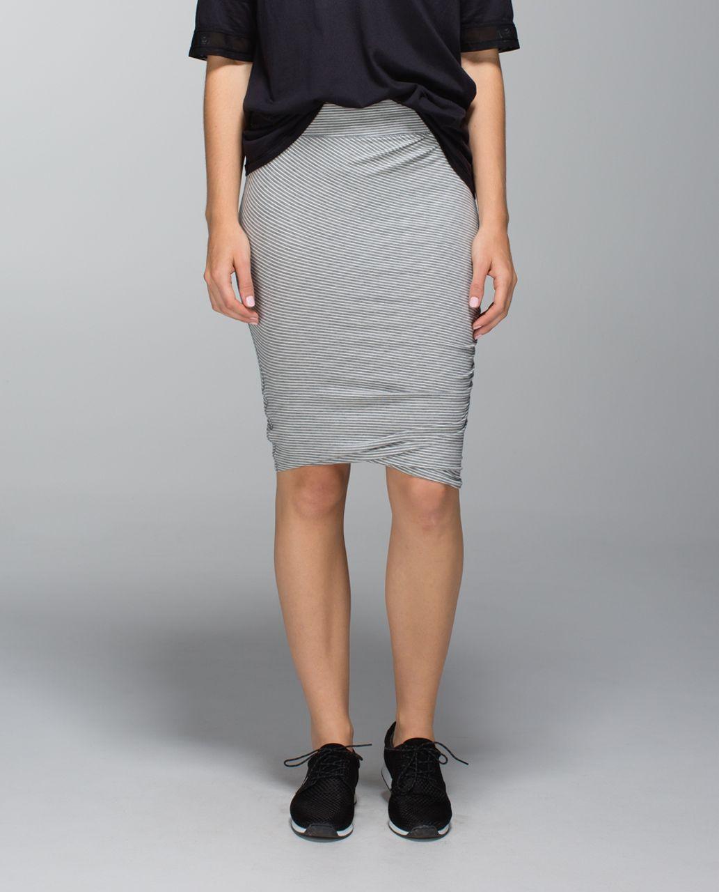 Lululemon Anytime Skirt - Hyper Stripe Heathered Medium Grey Ghost
