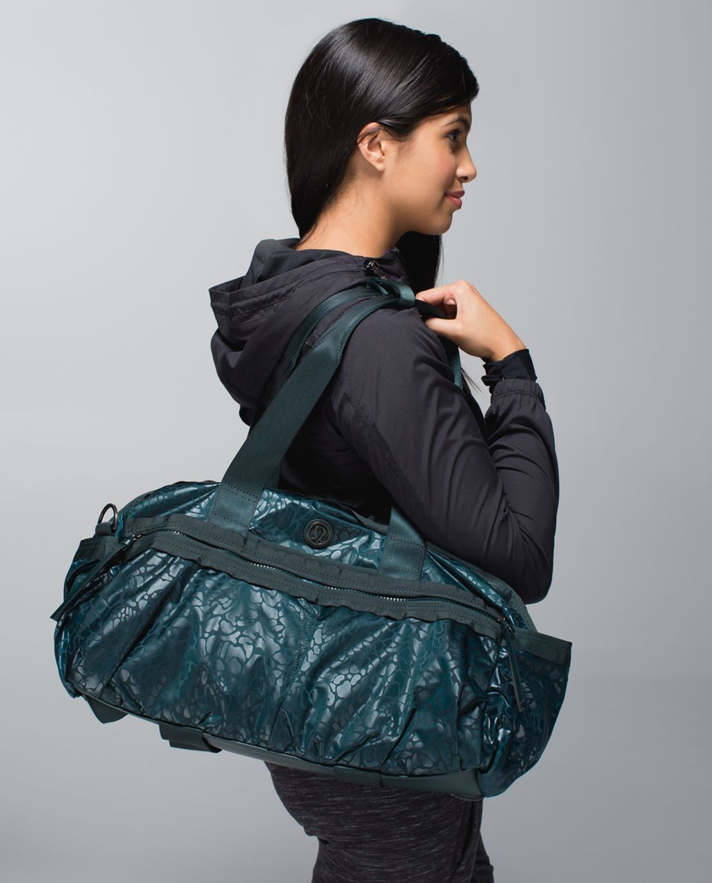8d0047cd4dd Lululemon Gym To Win Duffel *Nylon - Petal Camo Embossed Fuel Green / Fuel  Green - lulu fanatics