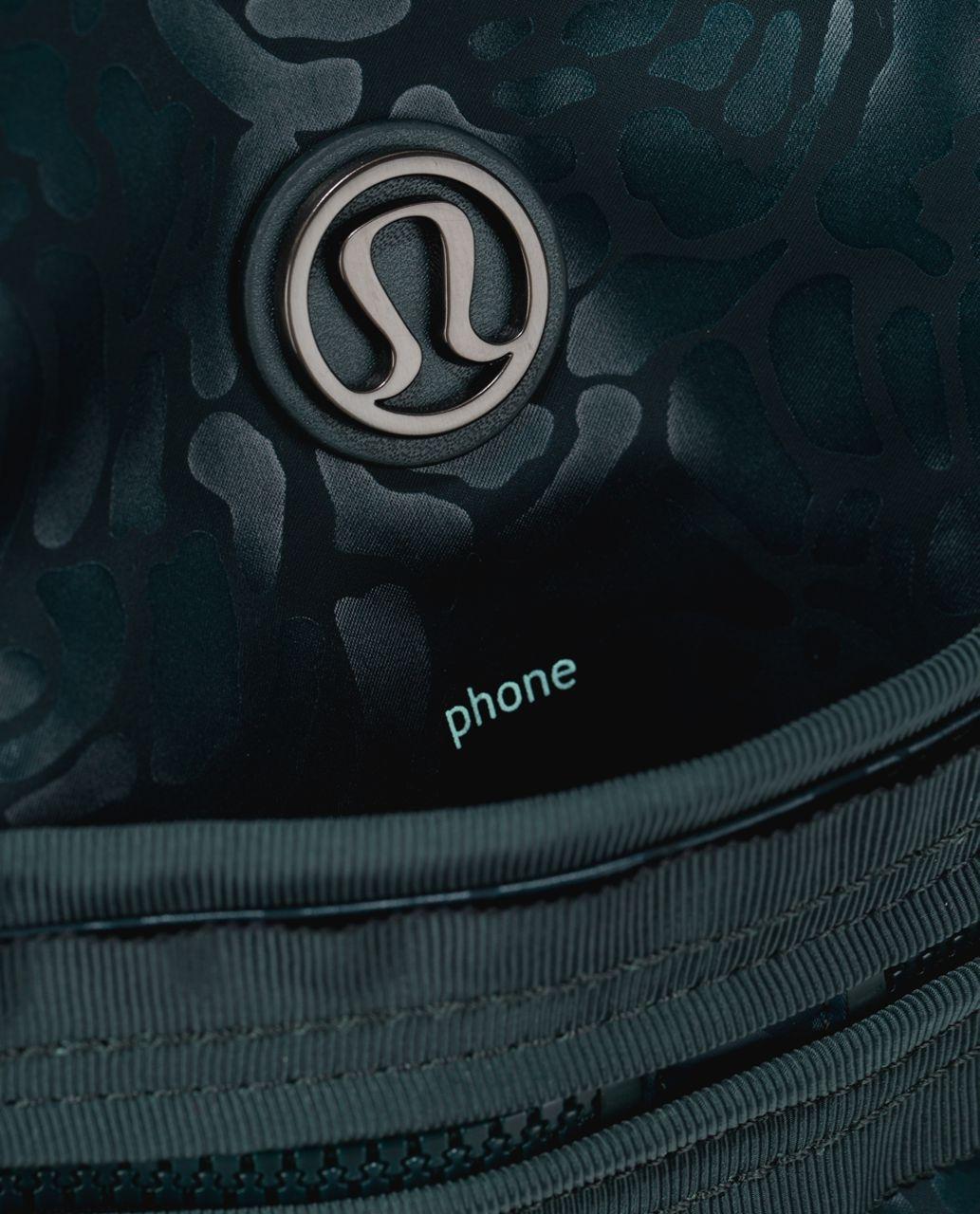 Lululemon Gym To Win Duffel *Nylon - Petal Camo Embossed Fuel Green / Fuel Green