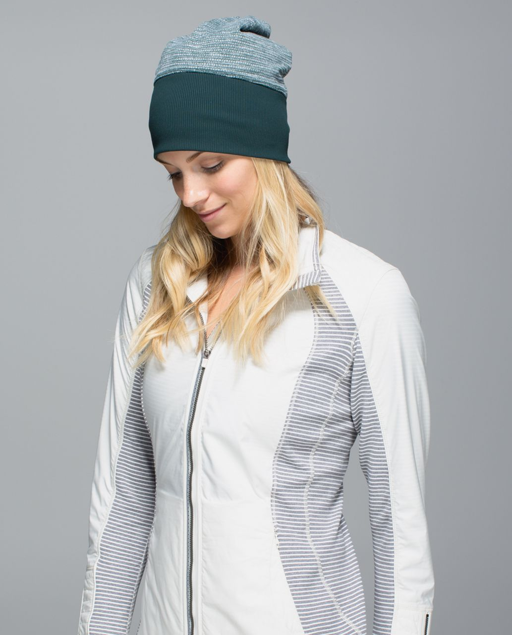 Lululemon Run With Me Toque - Fuel Green / Hyper Stripe Heathered Fuel Green Toothpaste