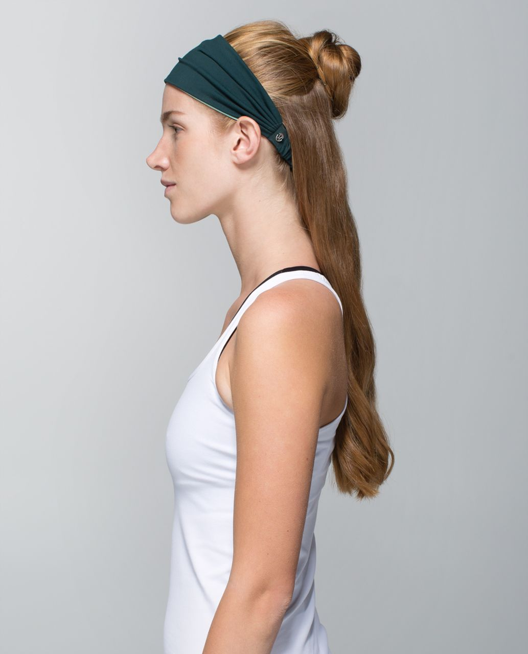 Lululemon Bang Buster Headband *Reversible - Fuel Green / Toothpaste