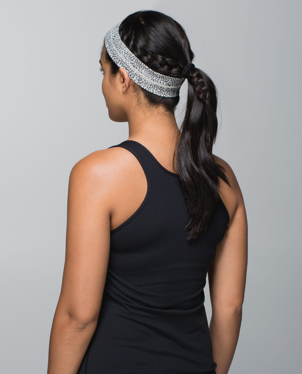 Lululemon Fly Away Tamer Headband - Plush Petal Deep Coal Ghost